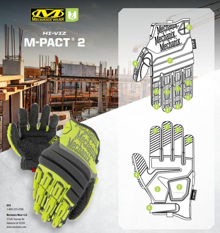 Redesigned: Hi-Viz M-Pact® 2 Work Gloves